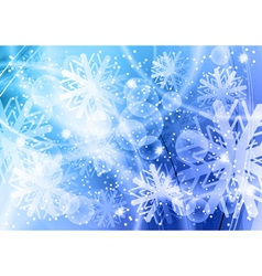 christmas backgroun in the blue vector image vector image