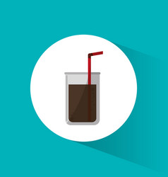 cinema soda drink beverage with straw vector image