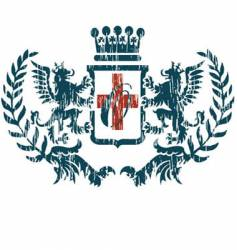 Dragon coat of arms vector