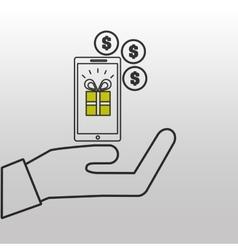 E-commerce gift money icon design vector
