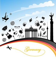 germany background vector image vector image