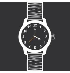 Hand drawn vintage watch design element vector