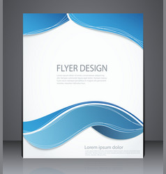 Layout brochure flyer design template vector