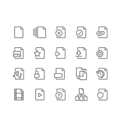 Line File Icons vector image vector image