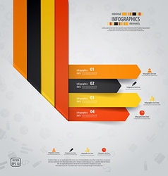 line infographics 3 vector image vector image