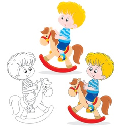 Little rider vector image vector image