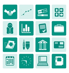 One tone Business and Office icons vector image vector image