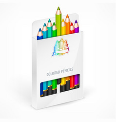 Pencil boxes color vector