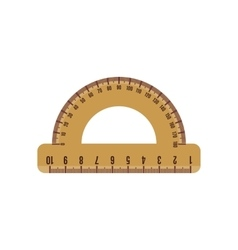 Protractor icon in flat style vector