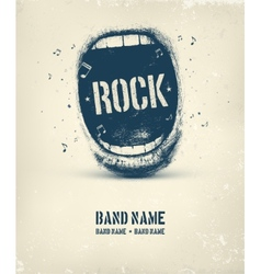 Rock music poster vector