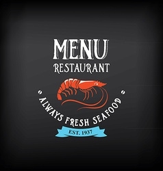 Seafood menu and badges design elements vector image vector image
