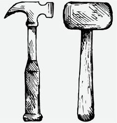 Set hammer vector image vector image