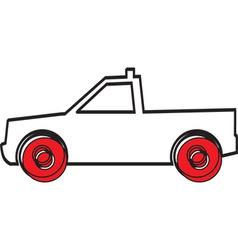 Simple car design vector image