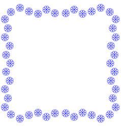 snowflake frame 3111 vector image