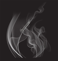 Steam on black background vector image