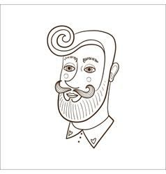 Stylish man face vector image
