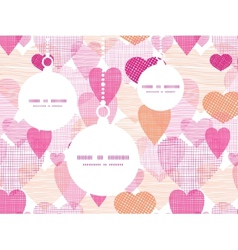 textured fabric hearts heart silhouette pattern vector image