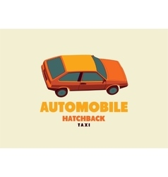 Typographic retro taxi cab poster vector image