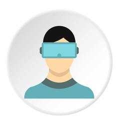 virtual reality glasses icon circle vector image vector image