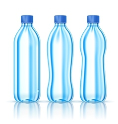 Water bottles on white vector image vector image