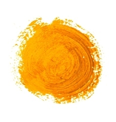 yellow circle paint strokes vector image