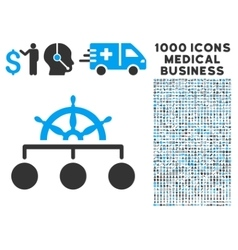 Rule icon with 1000 medical business symbols vector