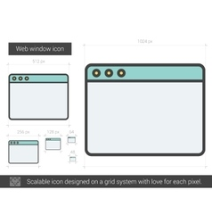 Web window line icon vector image