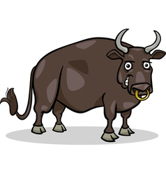 Bull farm animal cartoon vector