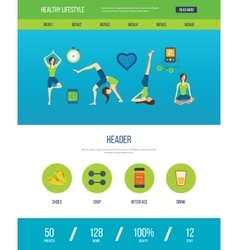 Healthy lifestyle fitness and physical activity vector