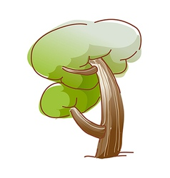 A growing tree vector image