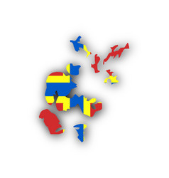 Map and flag of orkney islands vector