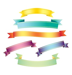 ombre ribbons vector image