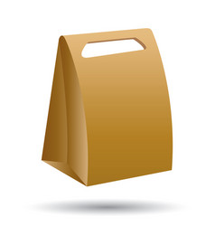 Cardboard bag isolated on white background vector