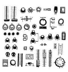 Mixer buttons vector