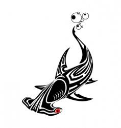 tattoo hammer head shark vector image