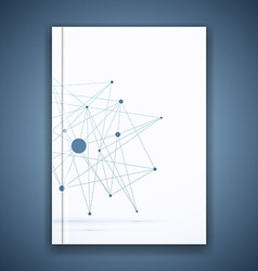 Atom molecule connection idea folder template vector