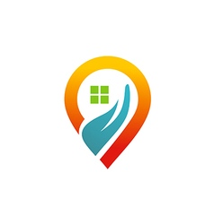 House location media icon gps logo vector