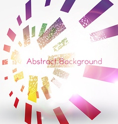 Bright abstract design with blocks vector
