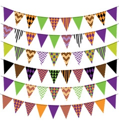 Halloween bunting banner collection vector