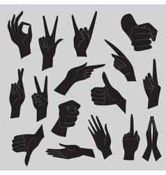 set of universal gestures of vector image
