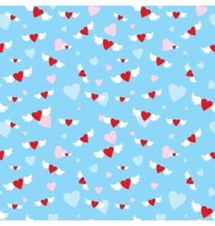 Seamless with hearts vector image