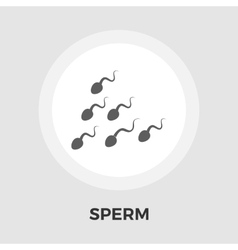 Sperm flat icon vector