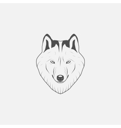 Wolf icon in grayscale vector