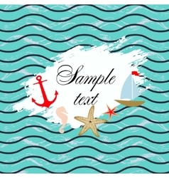 Marine background template design vector