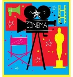 Abstract cinema poster vector