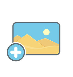 Add image photo photography picture icon vector