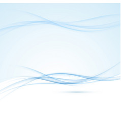 Blue abstract swoosh smoke border background vector