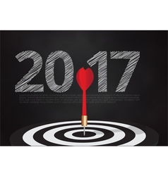 bulls eye hit the target on dartboard vector image