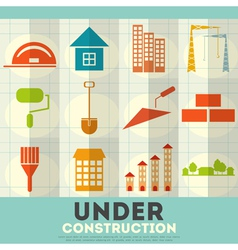 Construction icons set vector