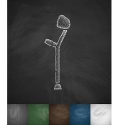 Crutch icon vector